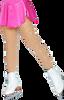ChloeNoel Footed Ice Skating Tights 3330 Medium Tan - with Crystals