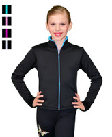 ChloeNoel J48 Color Zipper Fitted Figure Skating Jacket