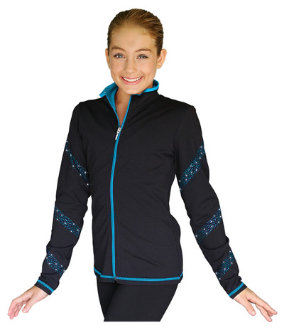 ChloeNoel JS96 Crystal Spiral Figure Skating Jacket