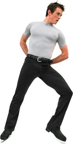 ChloeNoel M01 2Inch Elastic Waist Men's Figure Skating Pants