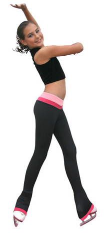 ChloeNoel P19 Reversible 2Tone Skate Figure Skating Pants With Contrast Cuff