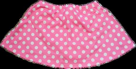 ChloeNoel K01 Aline Skate Skirt FUCHSIA DOT (ADULT SMALL)(30% OFF)