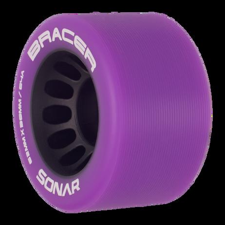 Riedell Skates Sonar Bracer 62mm Indoor Skate Wheels (Purple, Set of 4)