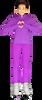 ChloeNoel PS711 Solid Color Skinny Yoga Off Ice Elite Figure Skating Pants w/ Front Pocket 2nd view