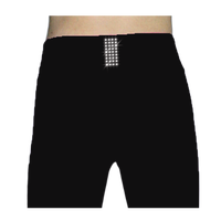 ChloeNoel PS711 Solid Color Skinny Yoga Off Ice Elite Figure Skating Pants w/ Front Pocket and Swarovski Crystal Block 2nd view