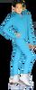 ChloeNoel JS735 Solid Color Elite Figure Skating Jacket w/ Thumb Holes 4th view