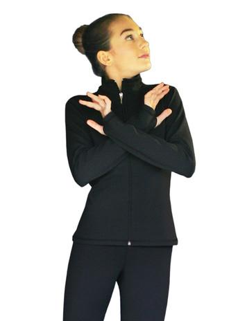 ChloeNoel JS735 Solid Color Elite Figure Skating Jacket w/ Thumb Holes