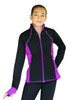 ChloeNoel JS792 Color Contrast  Elite Figure Skating Jacket w/ Pockets & Thumb Holes