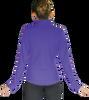 ChloeNoel JT811 Solid  Fleece Fitted  Elite Figure Skating Jacket w/ Thumb Holes 4th view