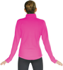 ChloeNoel JT811 Solid  Fleece Fitted  Elite Figure Skating Jacket w/ Thumb Holes 6th view