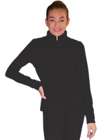 ChloeNoel JT811 Solid  Fleece Fitted  Elite Figure Skating Jacket w/ Thumb Holes