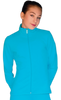 ChloeNoel JT811 Solid  Fleece Fitted  Elite Figure Skating Jacket w/ Thumb Holes 7th view