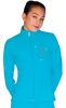 ChloeNoel JT811 Solid  Fleece Fitted  Elite Figure Skating Jacket w/ Mini Skating Crystals Combination