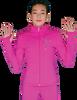 ChloeNoel JT811 Solid  Fleece Fitted  Elite Figure Skating Jacket w/ Mini Skating Crystals Combination 3rd view