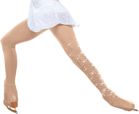 ChloeNoel Over the Boot Ice Skating Tights 8832 with Crystals