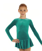 Born to Skate Glitter Figure Skating  Dress 2711 -  Jade Green