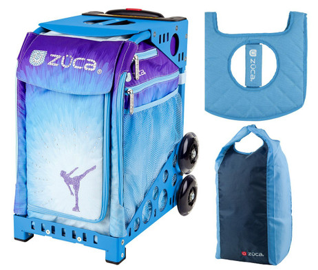 5a7e692a4b Zuca Sport Bag - Ice Dreamz with Gift Stuff Sack and Seat Cover (Blue Frame)