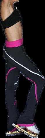 ChloeNoel P618F 2-Tone Piping Light Weight Fleece Figure Skating Pants