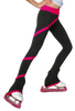 ChloeNoel P636F Spiral Light Weight Fleece Figure Skating Pants