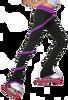 ChloeNoel P636F Spiral Light Weight Fleece Figure Skating Pants 2nd view