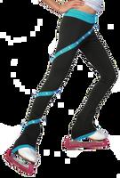 ChloeNoel P636F Spiral Light Weight Fleece Figure Skating Pants  with matching Swarovski crystals