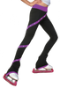 ChloeNoel P636F Spiral Light Weight Fleece Figure Skating Pants  with matching Swarovski crystals 2nd view