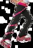 ChloeNoel P636F Spiral Light Weight Fleece Figure Skating Pants  with matching Swarovski crystals 3rd view