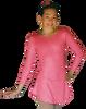 ChloeNoel DLS711 A-Line Swirls Sparkle Spandex Dress (Magic Pink)
