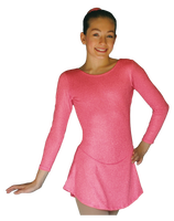 ChloeNoel DLS711 A-Line Swirls Sparkle Spandex Dress (Magic Pink)