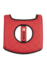 Zuca Seat Cover - Black & Red 2nd view