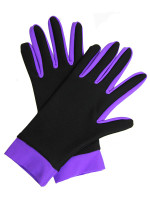 Icedress- Thermal Figure Skating Gloves (Black & Purple)