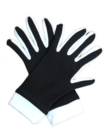 Icedress- Thermal Figure Skating Gloves (Black & White)