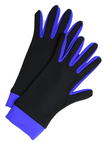 Icedress- Thermal Figure Skating Gloves (Black & Cornflower)