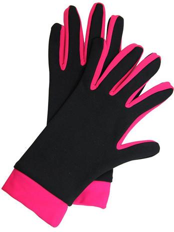 Icedress- Thermal Figure Skating Gloves (Black & Raspberry)