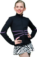 Chloe Noel Figure Skating Swirls Figure Skating Jacket J37 3rd view
