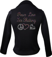 Kami-So Polartec Ice Skating Jacket - Peace Love Ice skate-multi