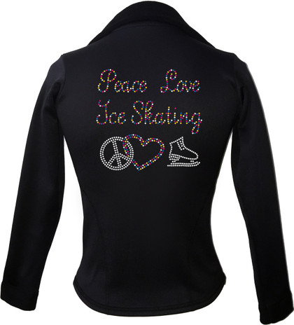 Kami-So Polartec Ice Skating Jacket - Peace Love Ice skate-multi