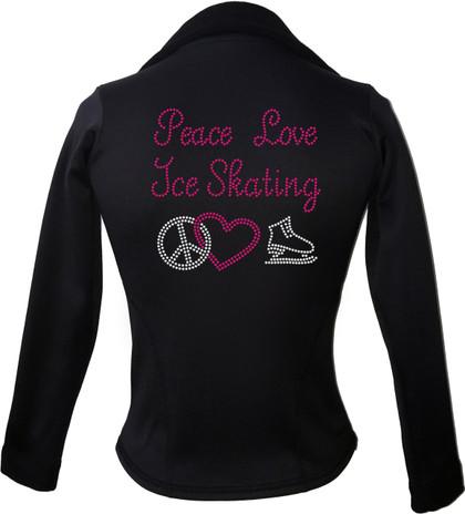 Kami-So Polartec Ice Skating Jacket - Peace Love Ice skate-pink