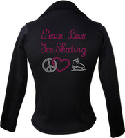 Kami-So Polartec Ice Skating Jacket - Peace Love Ice skate-pink