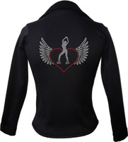Kami-So Polartec Ice Skating Jacket - Skater Heart wings 2
