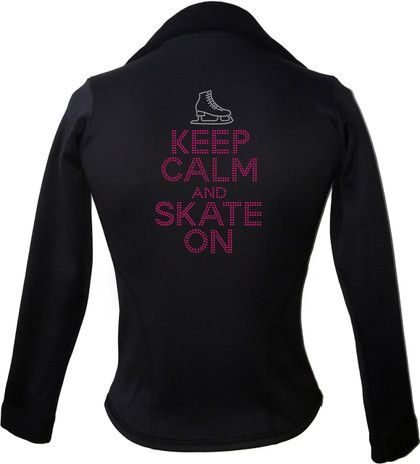 Kami-So Polartec Ice Skating Jacket - Keep Calm and skate on