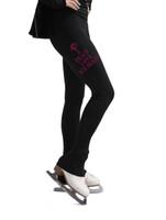 Kami-So Figure Skating Pants - Peace Love Ice Skating (Pink)