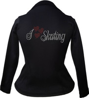 Kami-So Polartec Ice Skating Peplum Design Jacket - I Love Skating 2 2nd view