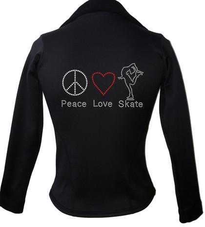 Kami-So Polartec Ice Skating Jacket - Peace Love Skate 2