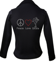 Kami-So Polartec Ice Skating Jacket - Peace Love Skate 2