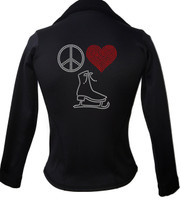 Kami-So Polartec Ice Skating Jacket - Peace Love Skate 3