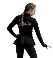 Kami-So Polartec Peplum Ice Skating Jacket - Skate Design on the Back