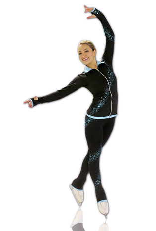 Kami-So Figure Skating Jacket -  Crystal Spiral Purple