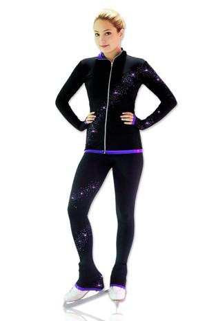 Kami-So Figure Skating Pants -  Crystal Spiral Purple