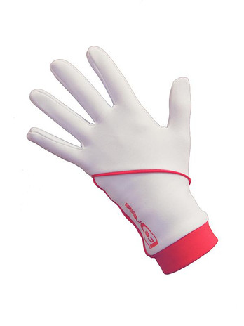 """Icedress - Thermal Figure Skating Gloves """"IceDress"""" (White and Hot Coral)"""